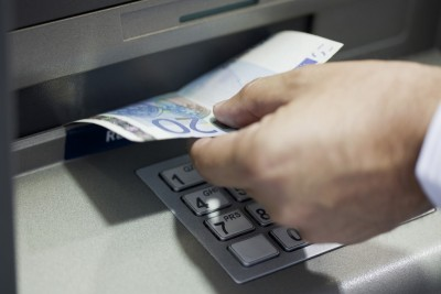 Withdrawing cash from ATM