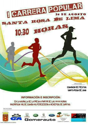 cartel I carrera popular Sta Rosa de Lima