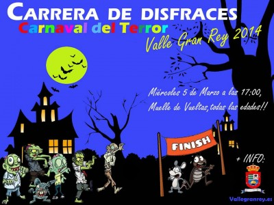 cartel carrera de disfraces VGR